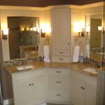 bathroom corner vanity unit