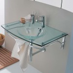 bathroom glass sink