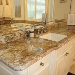 bathroom granite countertops with sink