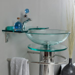 bathroom sink glass