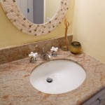 bathroom sink granite countertop