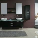 black bathroom vanity set