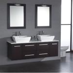 black double sink vanity