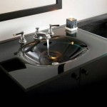 black glass bathroom sink