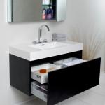 black modern vanity