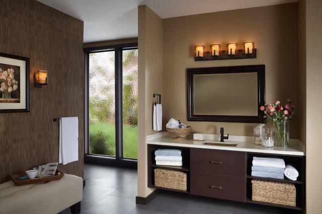 Bronze Bathroom Fixtures bronze bathroom lights – elegancy and durability in one