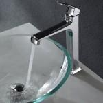 clear glass vessel bathroom sinks