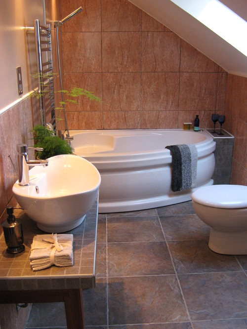 Captivating Corner Bathtub Small Bathroom