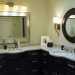 corner double sink bathroom vanity