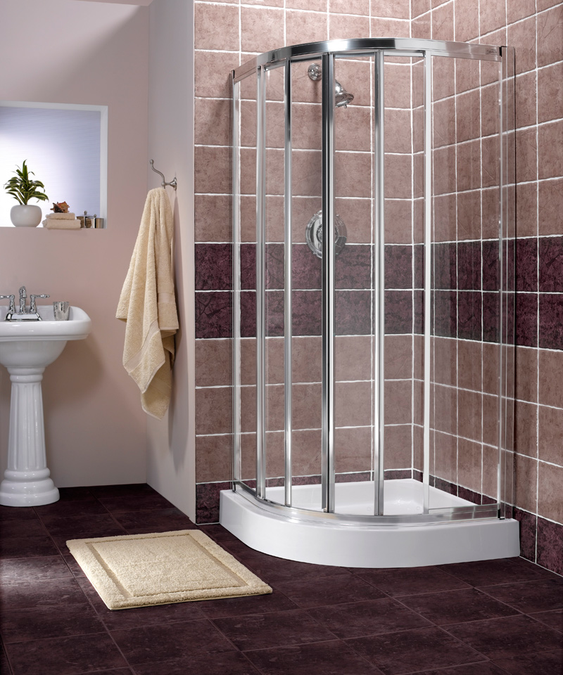 corner fiberglass shower stalls - Corner Shower Stalls as Space ...