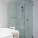 corner glass shower doors frameless