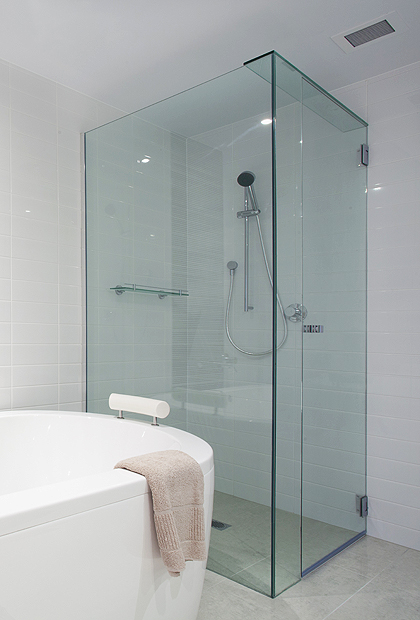 Corner Glass Shower Doors Frameless Corner Shower Stalls As Space
