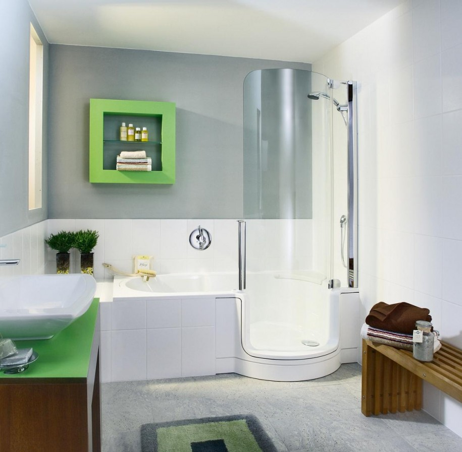Small Bathroom Ideas With Tub And Shower tiny bathroom with corner square glass shower stall - amidug