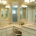 double sink corner vanity