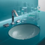 glass undermount bathroom sink