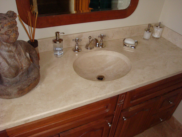Granite Bathroom Countertops With Sink