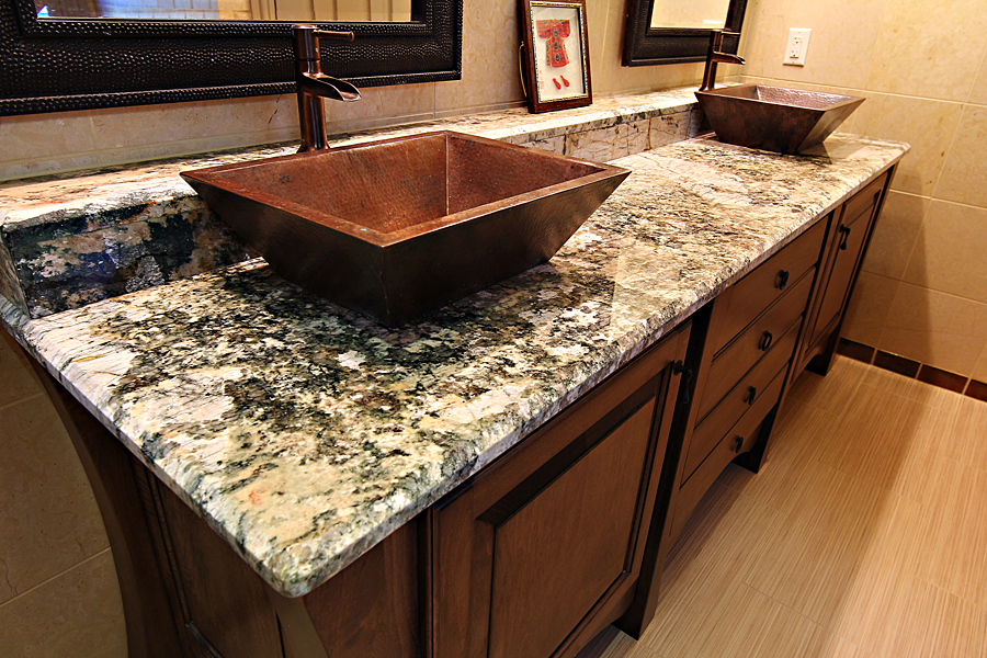 Granite Sink Countertop Bathroom