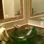 green glass bathroom sinks