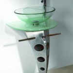 green glass vessel bathroom sinks