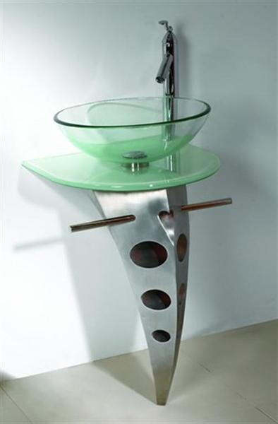 Utility Properties Of A Glass Sink U2014 Green Glass Vessel Bathroom Sinks