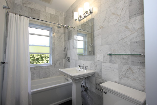 grey marble tiles bathroom