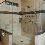 large corner shower