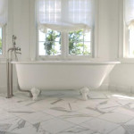 marble porcelain tile bathroom