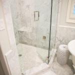 marble shower floor tile