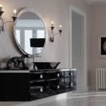 modern black bathroom vanity