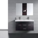 modern black vanity
