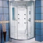 one piece corner shower stall