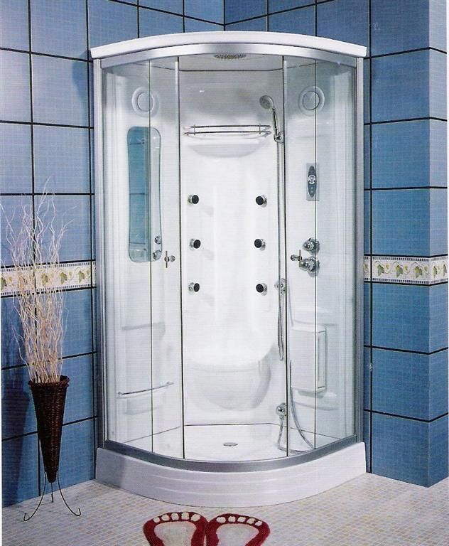 one piece corner shower stall   Corner Shower Stalls as Space