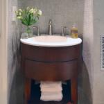 rounded corner bathroom vanity