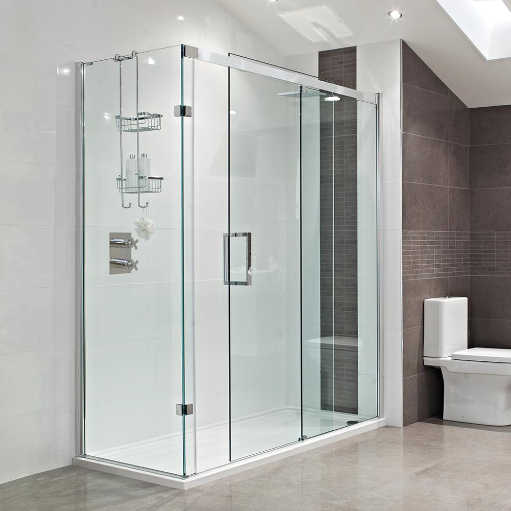 Sliding glass doors in bathroom interiors Sliding glass shower doors