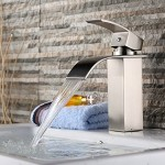 single handle brushed nickel bathroom faucet