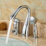 single handle roman tub faucet