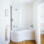 small bathroom corner tub