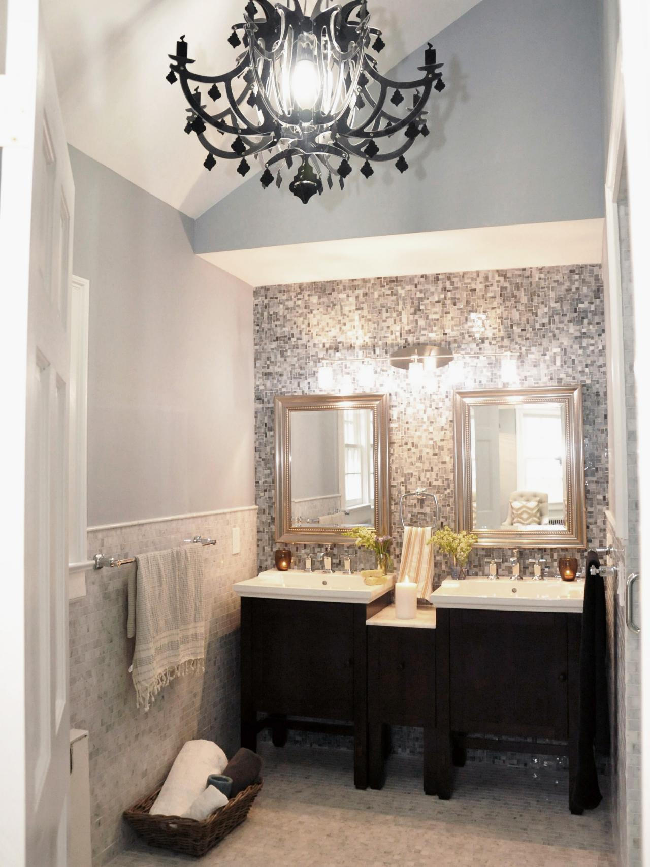 Chandelier For Bathroom The Pinnacle Of Easy Luxury Living Small Black