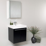 small black vanity