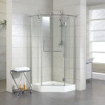 small corner shower stall