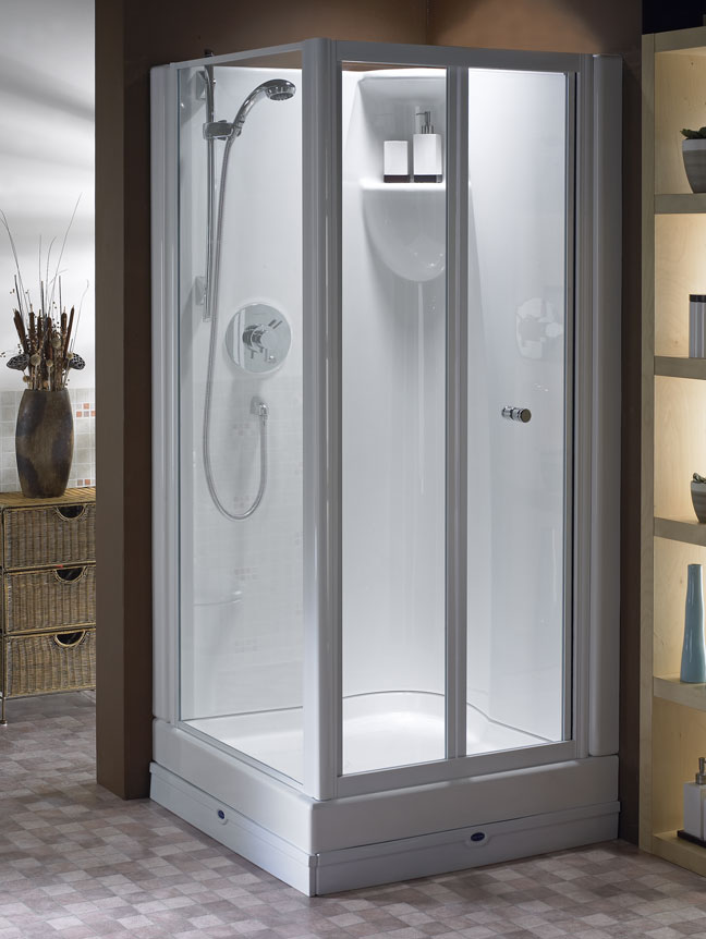 small corner shower - Corner Shower Stalls as Space-Saving Solution ...