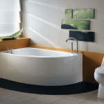 small corner soaking tub