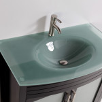 tempered glass bathroom sink