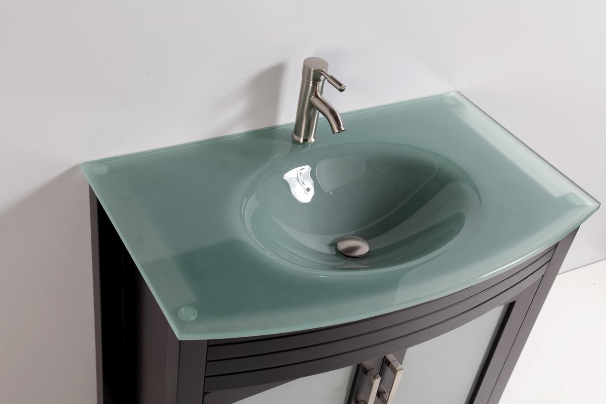 Picture of: Tempered Glass Bathroom Sink Utility Properties Of A Glass Sink Decorideasbathroom Com Best Bath Ideas