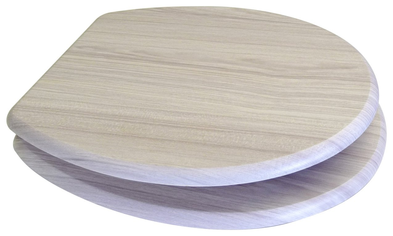 white wood toilet seat