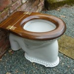 wood effect toilet seat