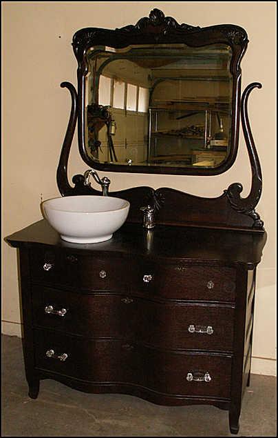 Bathroom Vanities With Vessel Sinks antique bathroom vanity with vessel sink - bathroom vintage style