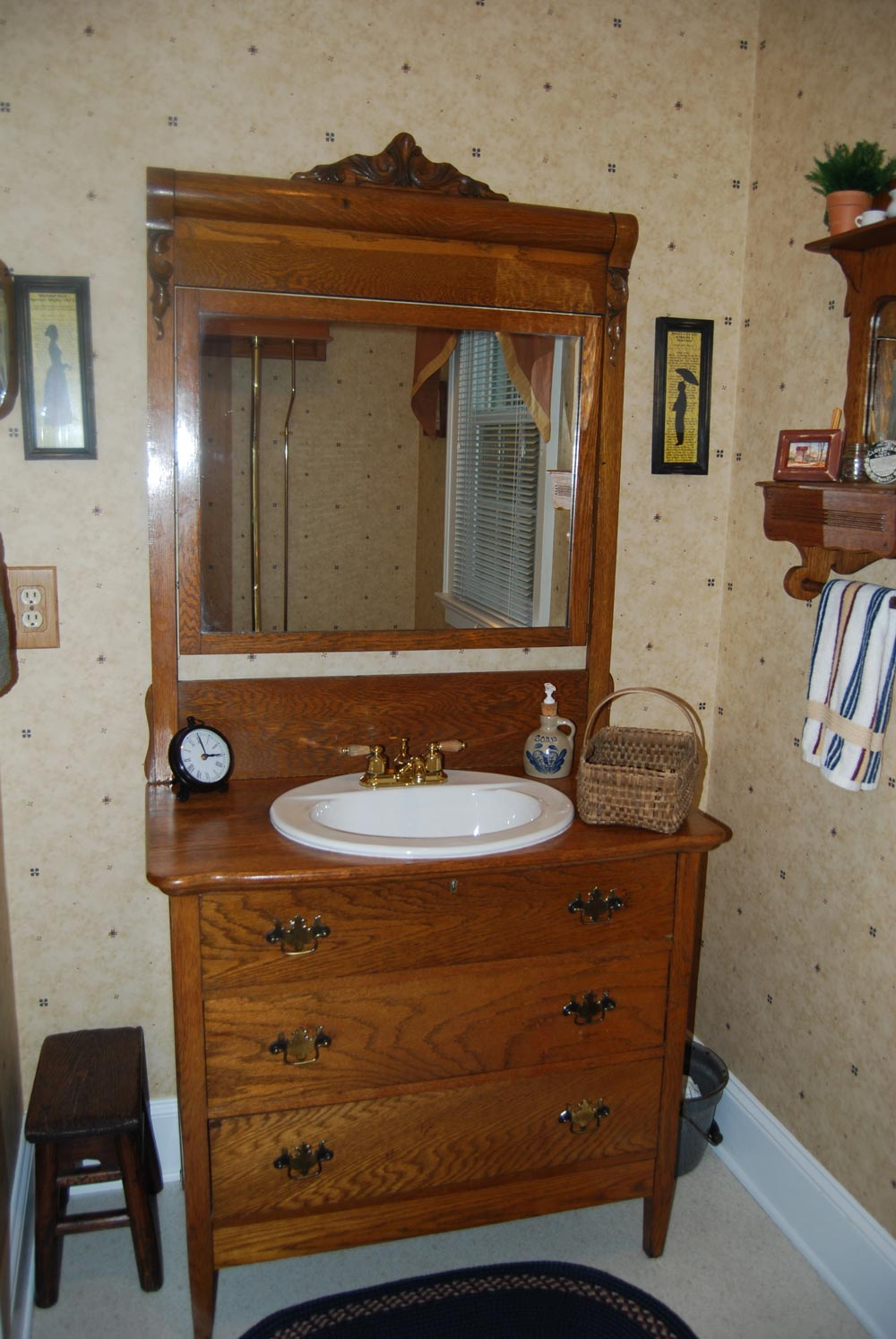 Bathroom Vintage Style Giving The Old Vanity Second Chance Antique Dresser