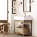 bathroom vanity with square sink