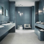 blue grey tile bathroom